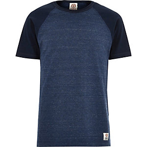 Blue Franklin & Marshall raglan t-shirt
