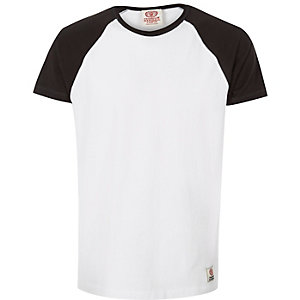 White Franklin & Marshall raglan t-shirt