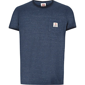 Blue Franklin & Marshall ringer t-shirt
