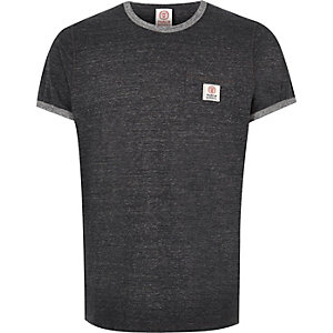 Dark grey Franklin & Marshall ringer t-shirt
