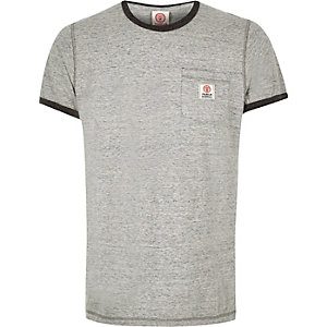Grey Franklin & Marshall ringer t-shirt