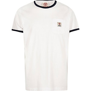 White Franklin & Marshall ringer t-shirt