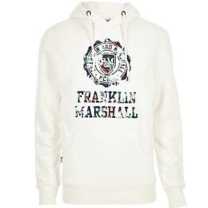 Ecru Franklin & Marshall branded hoodie