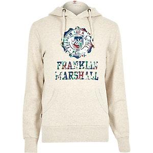 Cream Franklin & Marshall branded hoodie