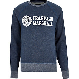 Navy Franklin & Marshall branded sweater