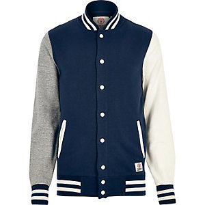 Navy Franklin & Marshall varsity jacket