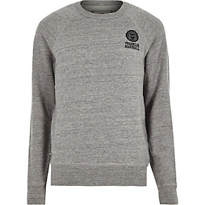 Grey Franklin & Marshall branded sweater