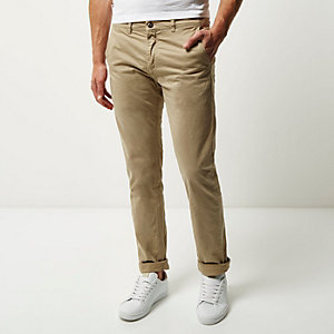Beige Franklin & Marshall chino trousers