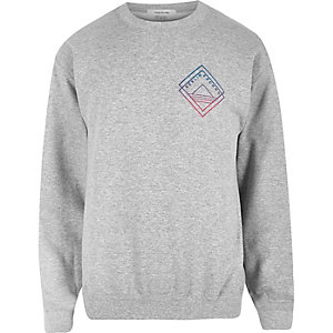Grey Berlin Exchange print sweatshirt