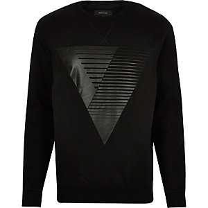 Black triangle print sweater
