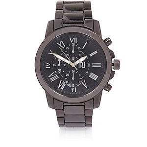 Dark grey chunky oversized watch