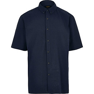 ADPT navy short sleeve shirt