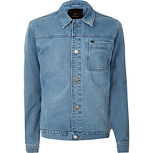 Blue ADPT light blue wash denim jacket
