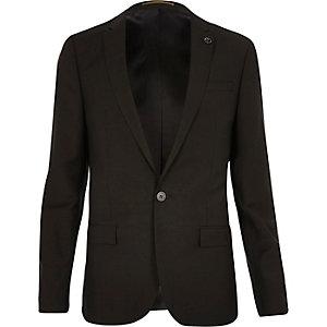 Khaki skinny suit jacket