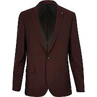 Berry slim fit suit jacket