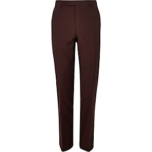 Berry slim fit suit trousers