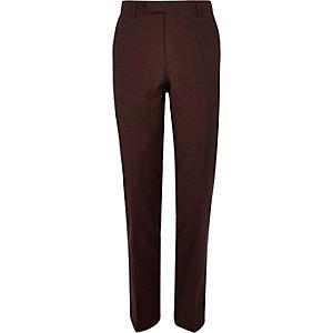 Berry slim fit suit trousers