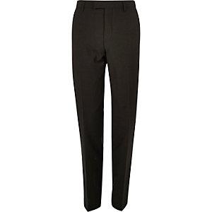Khaki slim fit suit trousers