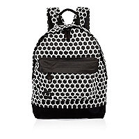 Black Mi-Pac honeycomb print backpack