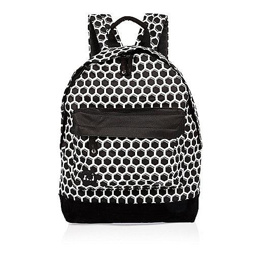 Black Mi-Pac honeycomb print backpack