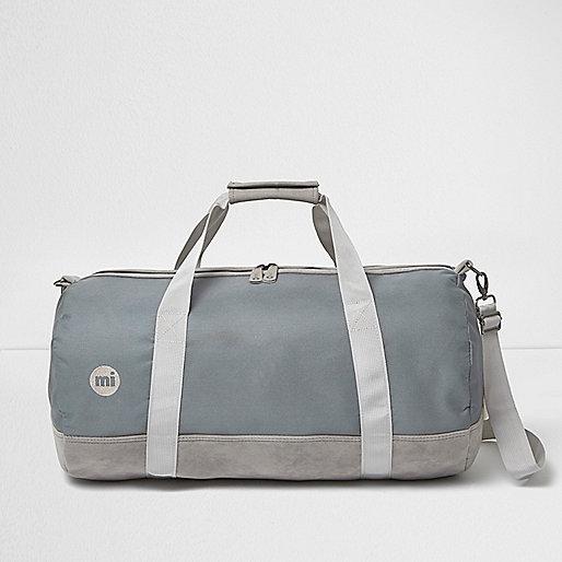 MiPac – Graue Duffle-Tasche mit Kontrastbahn