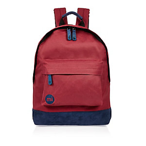 Dark red Mi-Pac contrast backpack
