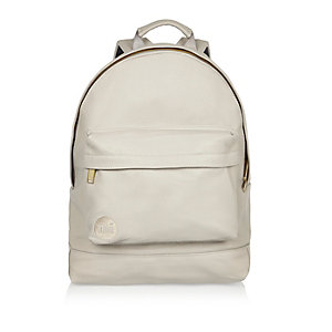 Light grey textured Mi-Pac backpack