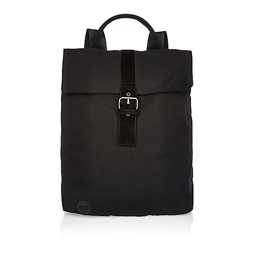 Black Mi-Pac canvas buckle backpack