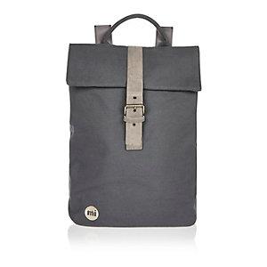 Dark grey Mi-Pac canvas buckle backpack