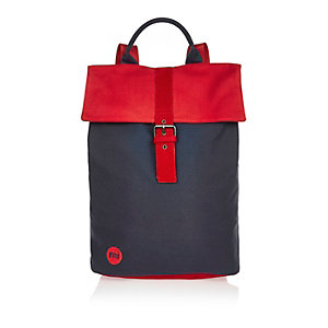 Navy Mi-Pac tonal canvas buckle backpack