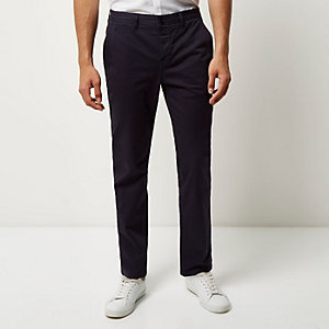 Navy slim fit pants