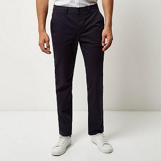 Navy slim fit pants