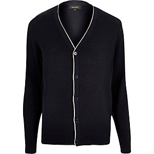 Navy tipped cardigan