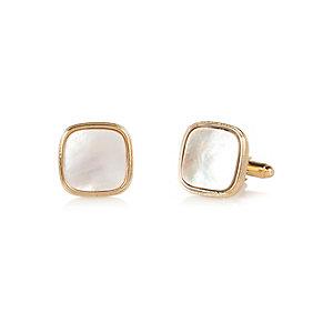 Stone shell cufflinks