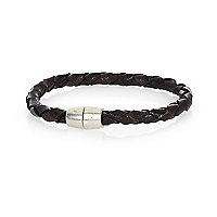Black plaited magnetic bracelet