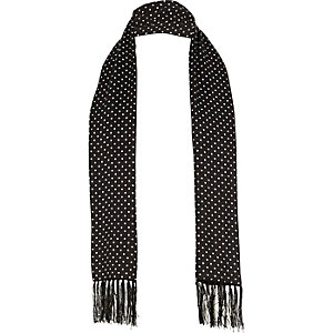 Black polka dot formal scarf