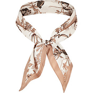 Brown safari print scarf