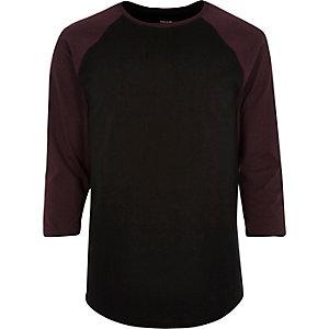 Black raglan top
