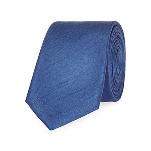 Cobalt blue formal tie