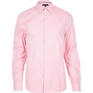 Pink gingham shirt