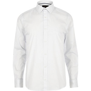 White stretch slim fit shirt