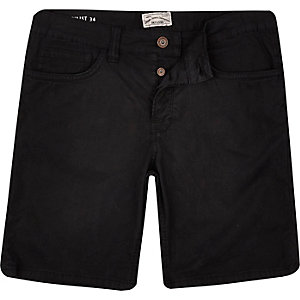 Black Only& Sons skinny fit denim shorts