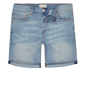 Light blue wash Only& Sons denim shorts