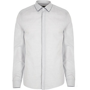 Grey tipped slim fit shirt