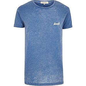 Blue strength t-shirt