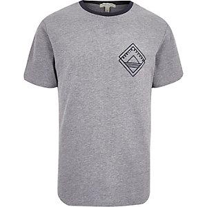 Grey print ringer t-shirt
