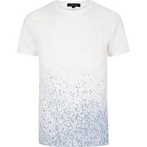 White splattered print t-shirt