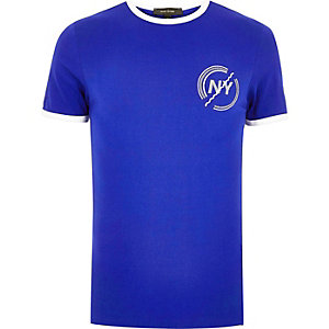 Cobalt ringer slim fit t-shirt
