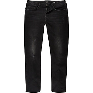 Black tumbled Dylan slim fit jeans