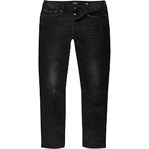 Black tumbled Dylan slim fit jeans